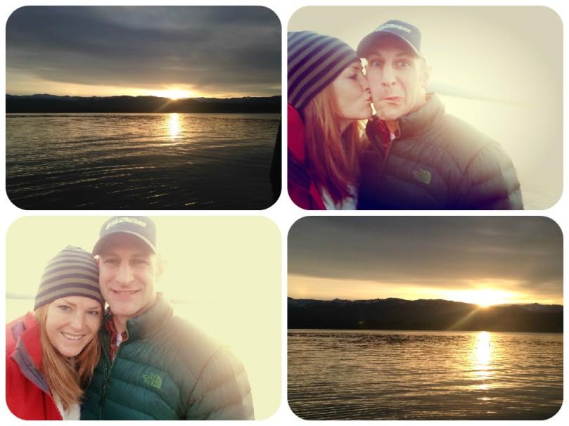 mccall idaho, sunrise, thefirst2hours, upandatem, fiance, selfie