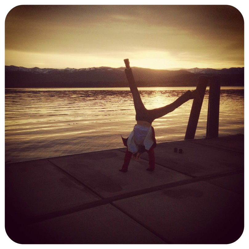 cartwheels, sunrise, thefirst2hours, upandatem, payette lake, mountain, travel, photography, fitness, motivation, nature, oxygen