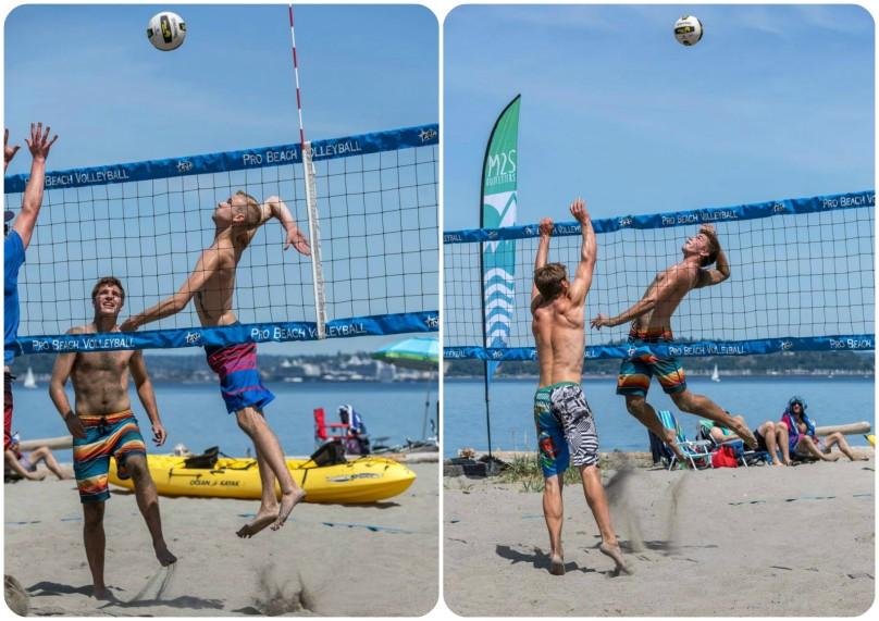 alki beach volleyballl, seattle, washington, team idaho,