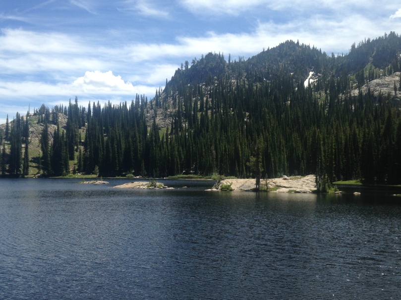 idaho, blue lake, mountains, hiking, hike, trails, nature, oxygen, sky, cascade, mccall, fitness, exercise, weight loss, family