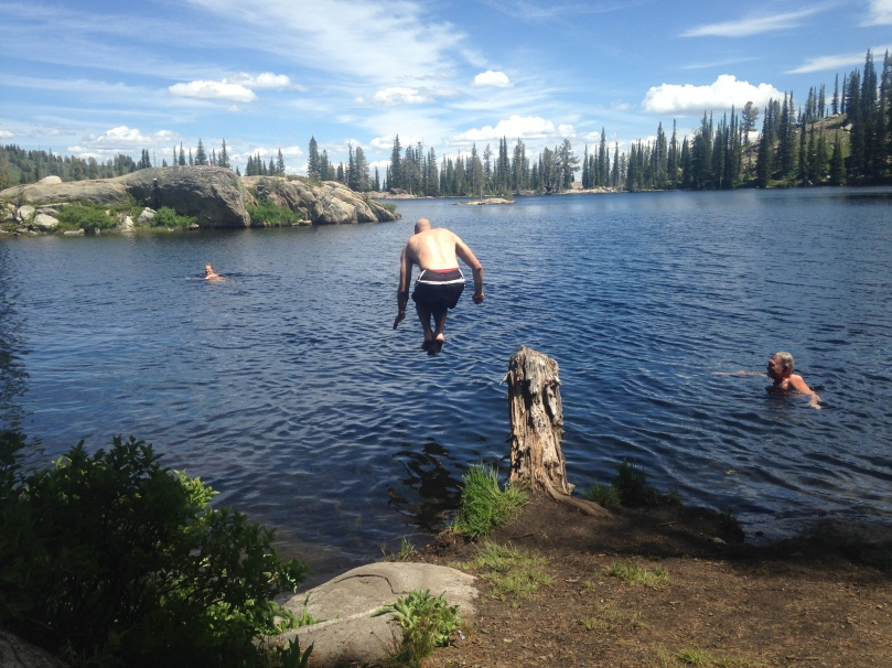 family, hiking, dad, idaho, cascade, mccall, active, fitness, weight loss, exercise, lake swimming, mountains