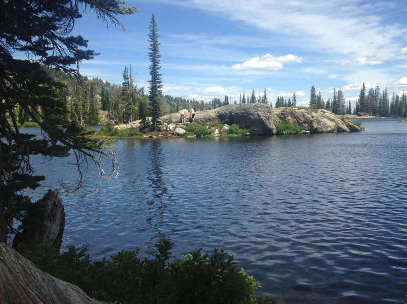 family, fitness, blue lake, mountain, hiking, exercise, weight-loss