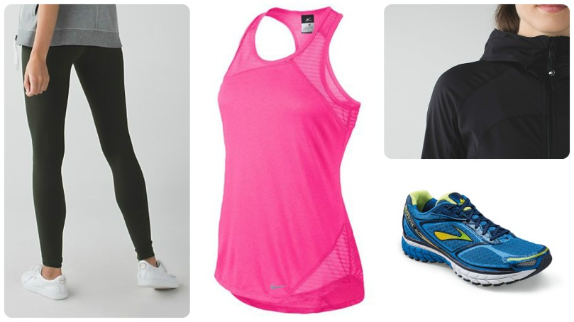 brooks running, nike racer back, tank top, leggings, yoga pants, lululemon, running shoes, recommended, product review, thefirst2hours, fashion, fitness