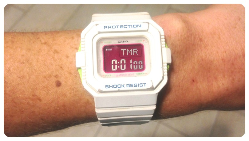 watch, running watch, stop watch, casio, exercise, fitness, interval training, circuit training, g shock, celebrity work outs